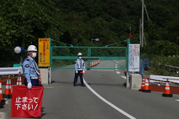 Fukushima-Check post at the Off Limit Zone-Photo©Piergiorgio Pescali (10)